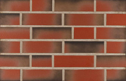 Фасадна клінкерна плитка 13302 rot-bunt ofengeflammt glat