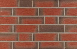 Фасадна клінкерна плитка 13392 rot-bunt ofengeflammt genarbt besandet