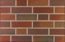Фасадна клінкерна плитка 14050 rot-bunt genarbt