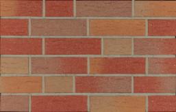 Фасадна клінкерна плитка 14090 rot-bunt genarbt besandet