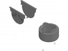 Комплект аксесуарів HAURATON TOP Х (2 глухі заглушки та вертикальний випуск)