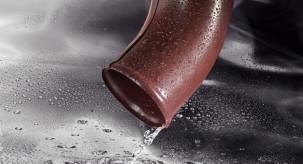 Коліно зливне металевої водостічної системи Flamingo